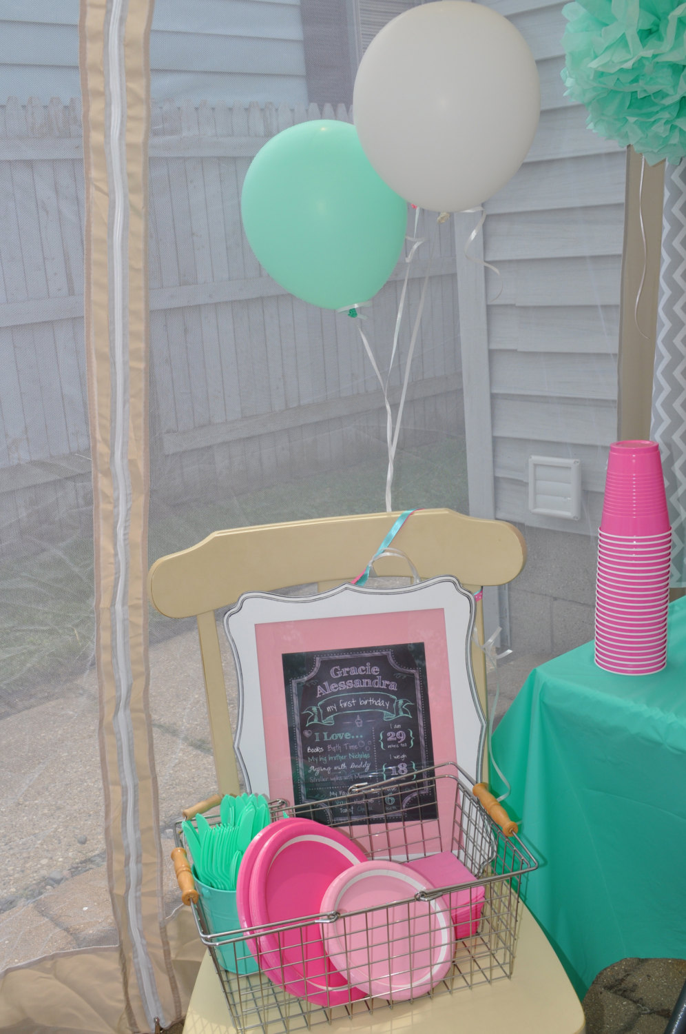 1st birthday chalkboard print girls 1st birthday decorations