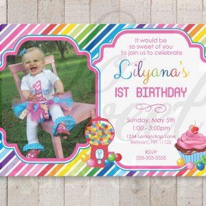 1st Birthday Invites So Sweet Party Shop