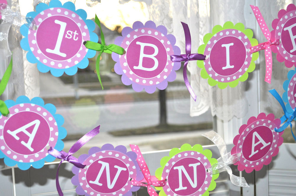 1st Birthday Party Door Sign Girls Birthday Party Decorations