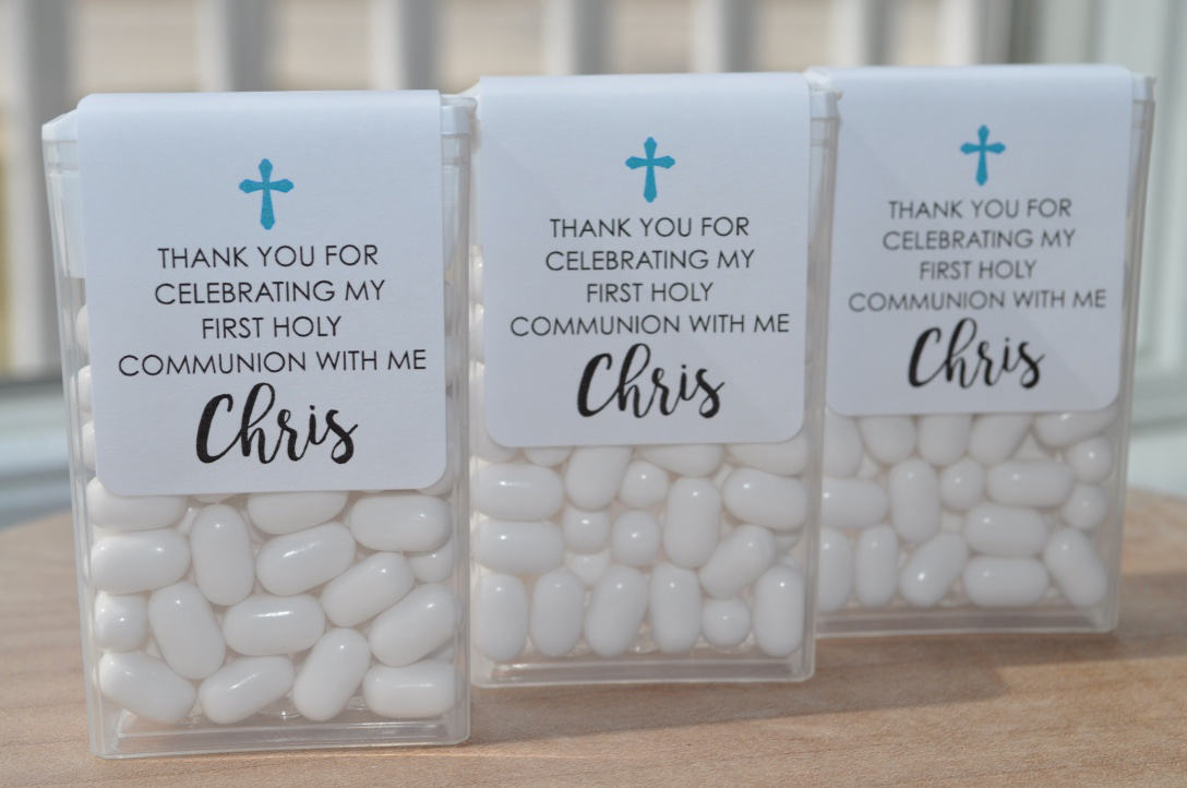 1st Holy Communion Party Favors Tic Tac Labels Mint Favors Mint Favors Girls Holy Communion Personalized Party Favors Set Of 24 Labels