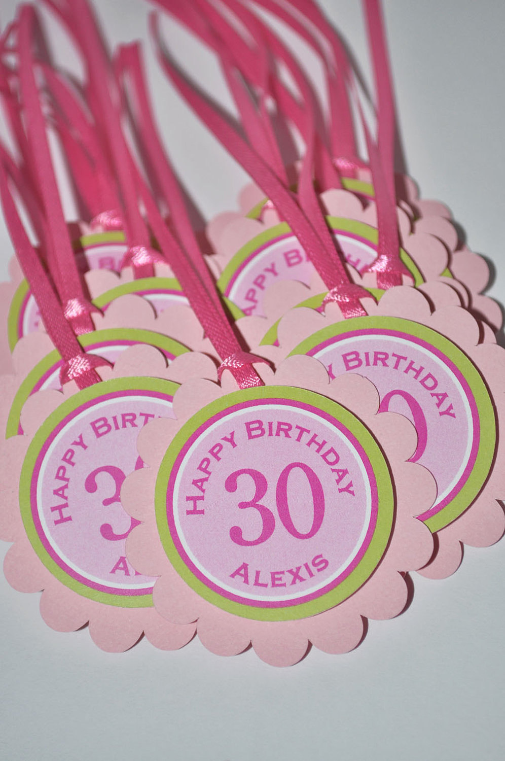 30th Birthday Party Favor Tags Girls Favors Thank You Personalized Decorations 40th