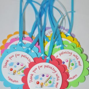 Artist Birthday Party Favor Tags Thank You Favors Art Painting Paint Decorations Set Of 12