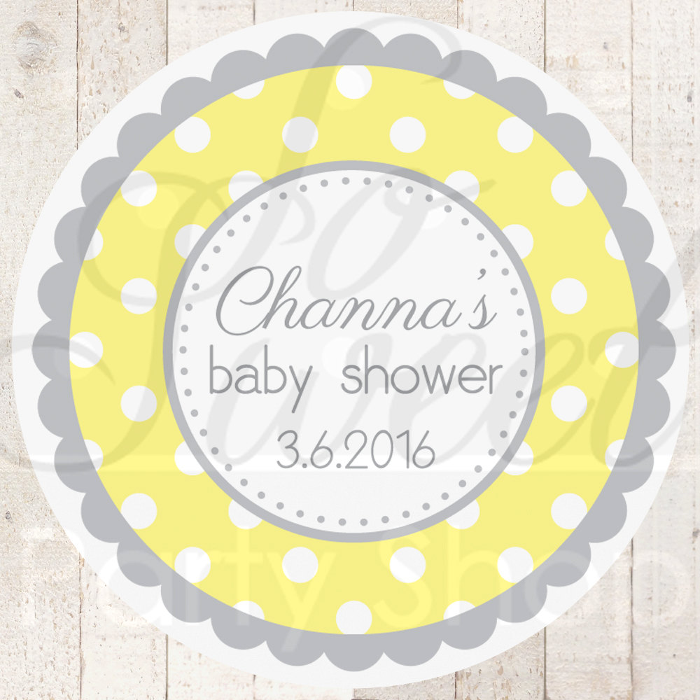 Baby Shower Stickers For Favors: Baby Shower Favor Sticker Labels