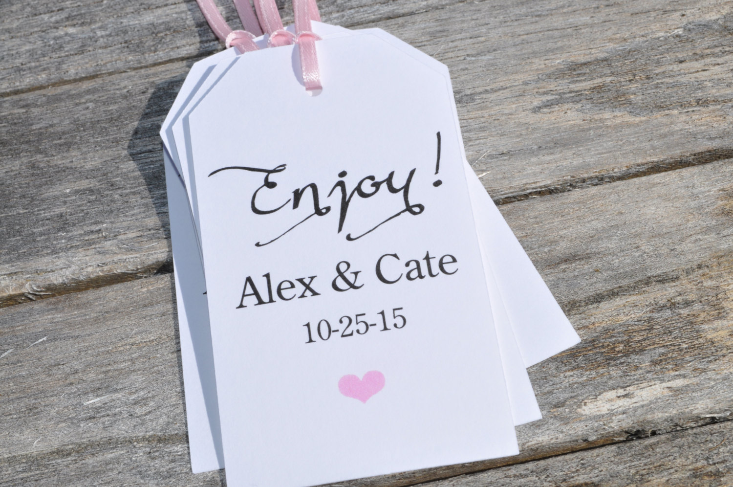 Baby Shower Favor Tags Enjoy, Wedding Thank You Tags, Favor Tag ...