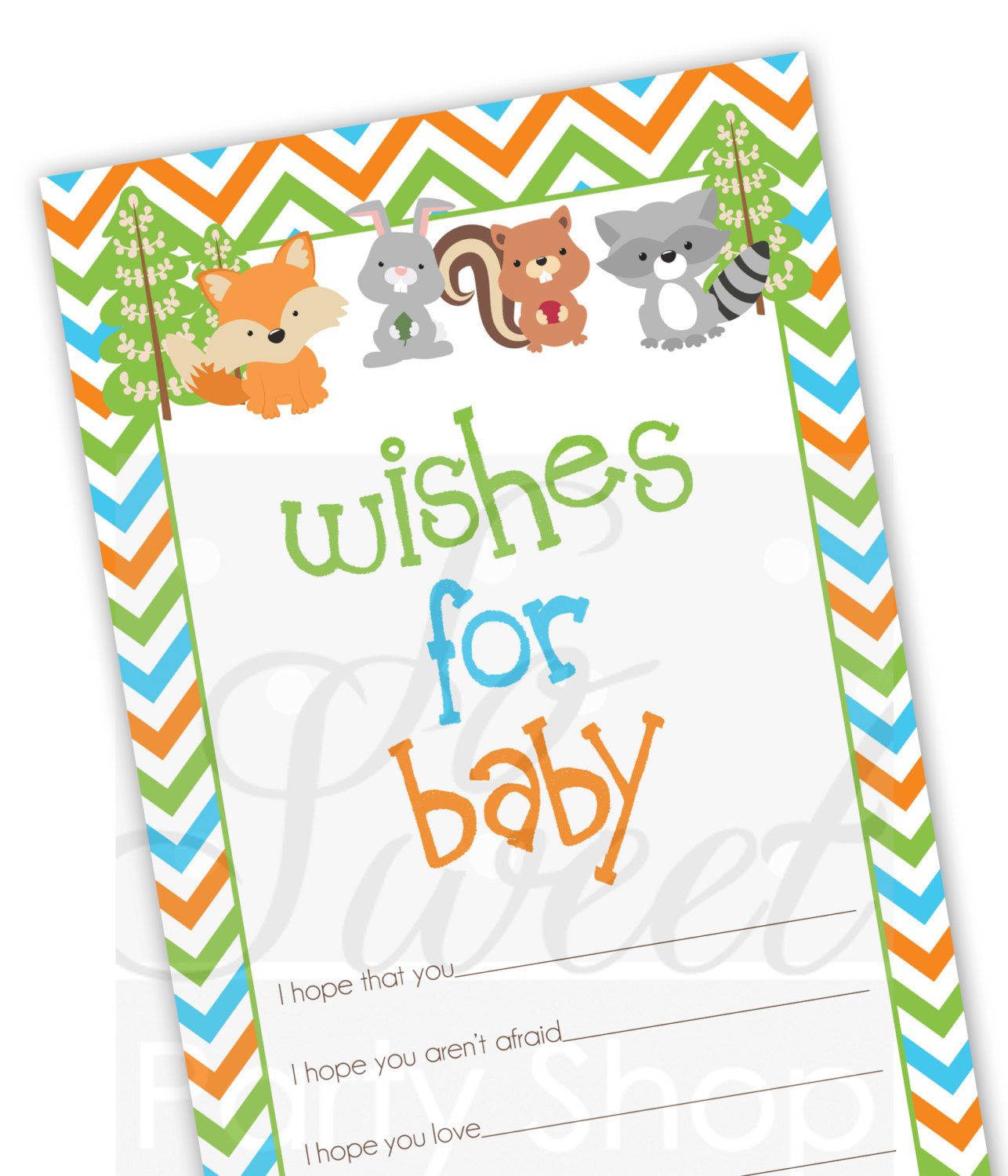 Baby Well Wish Cards Woodland Animals Foxy Mama Baby Shower Decorations Advice Cards Baby Shower Games Gender Neutral Baby Set Of 12