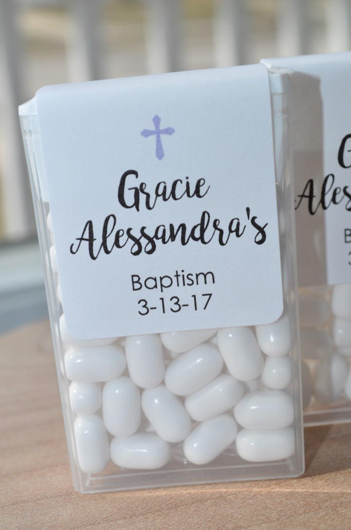 Baptism Party Favors Tic Tac Labels Mint Favors Mint Favors Cross Boys Baptism Personalized Party Favors Set Of 24 Labels