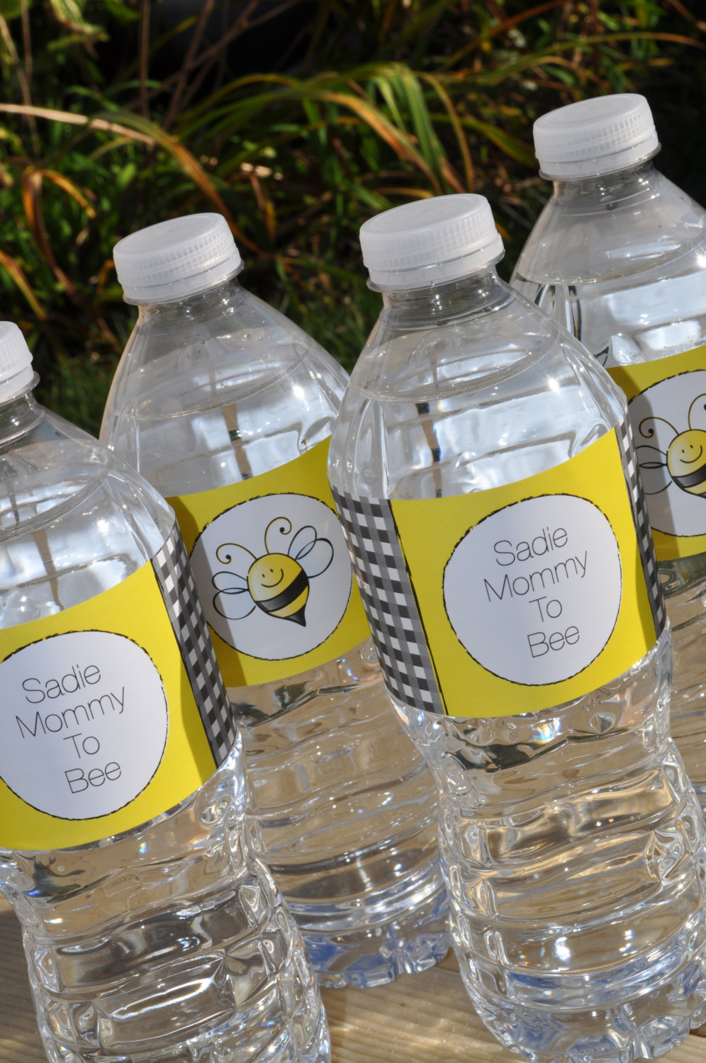 Bee Baby Shower Water Bottle Labels Bumble Bee Baby Shower
