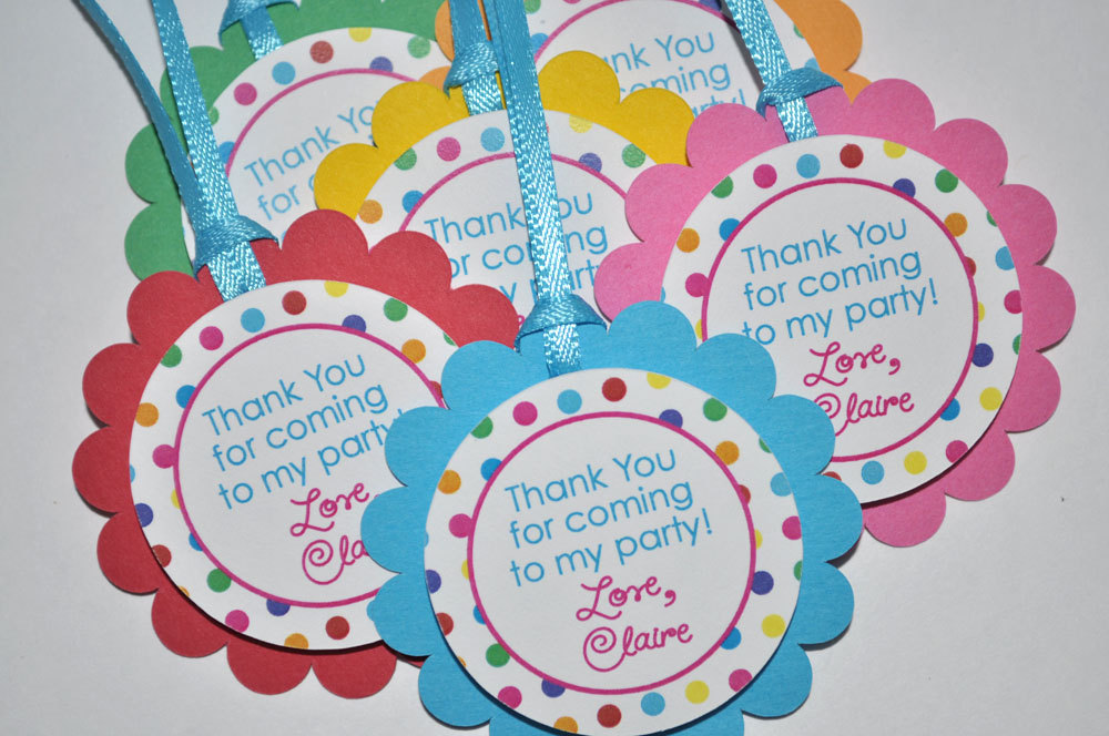 birthday stickers thank you favors 1st birthday rainbow party