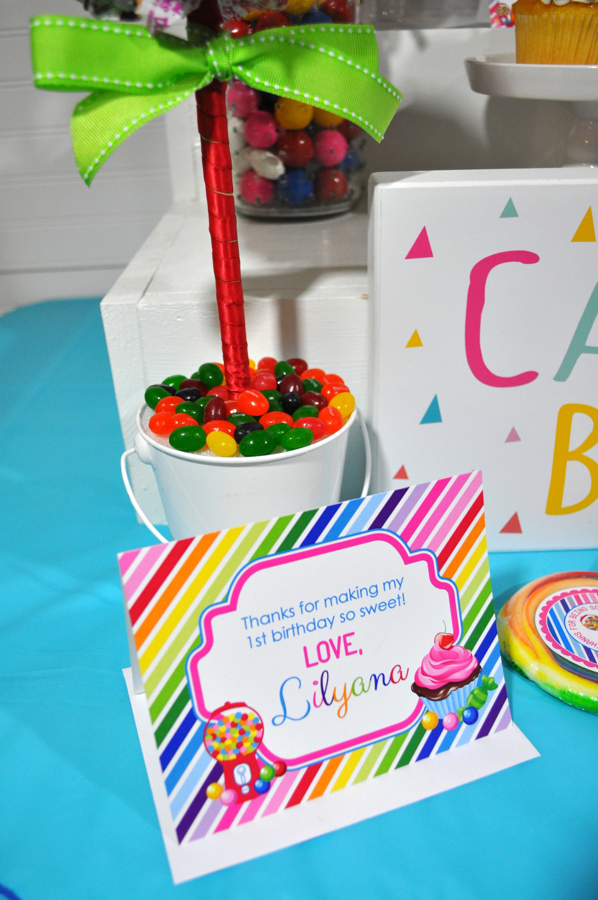 10 Rainbow Birthday Party Favors Personalized Thank You Tags