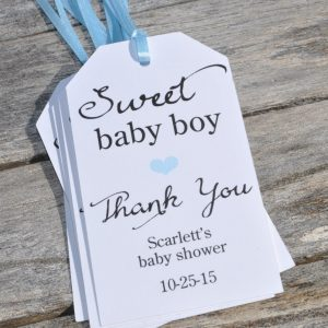 boy baby shower favor tags sweet baby boy baby shower thank you tags favor tags set of 12