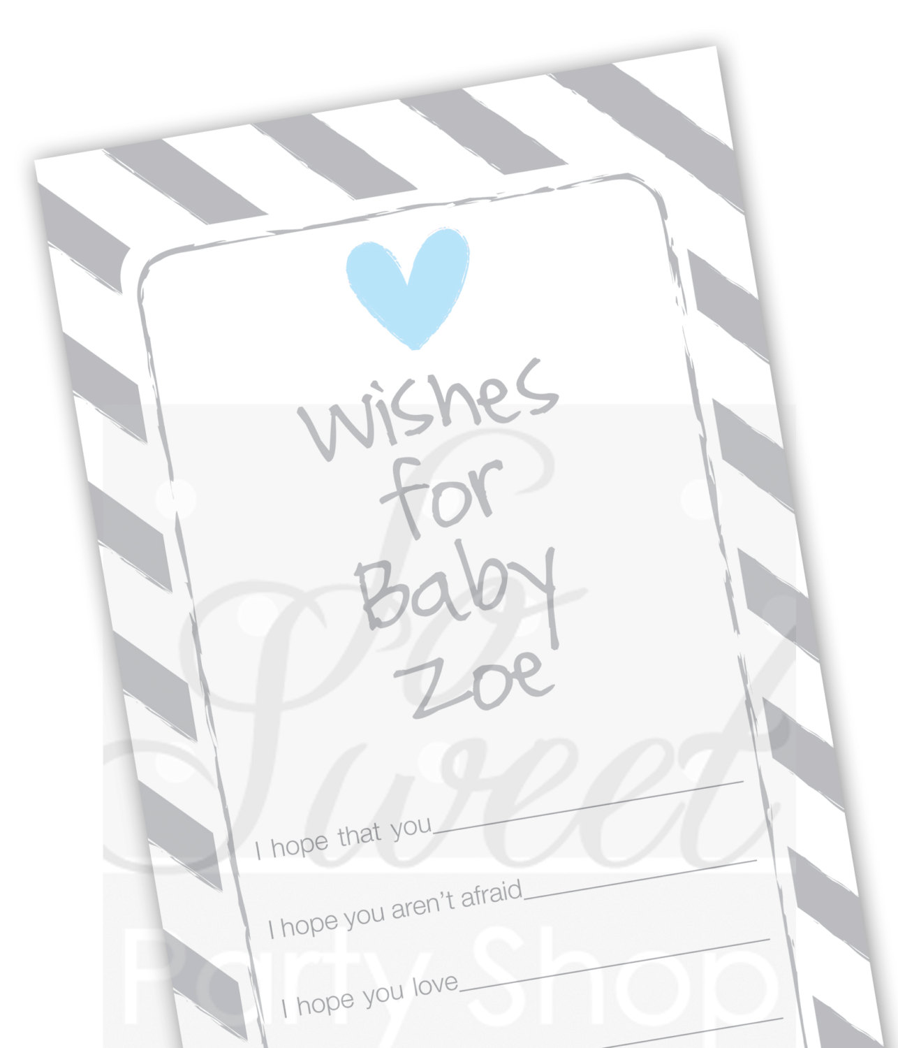 boy baby shower wish cards