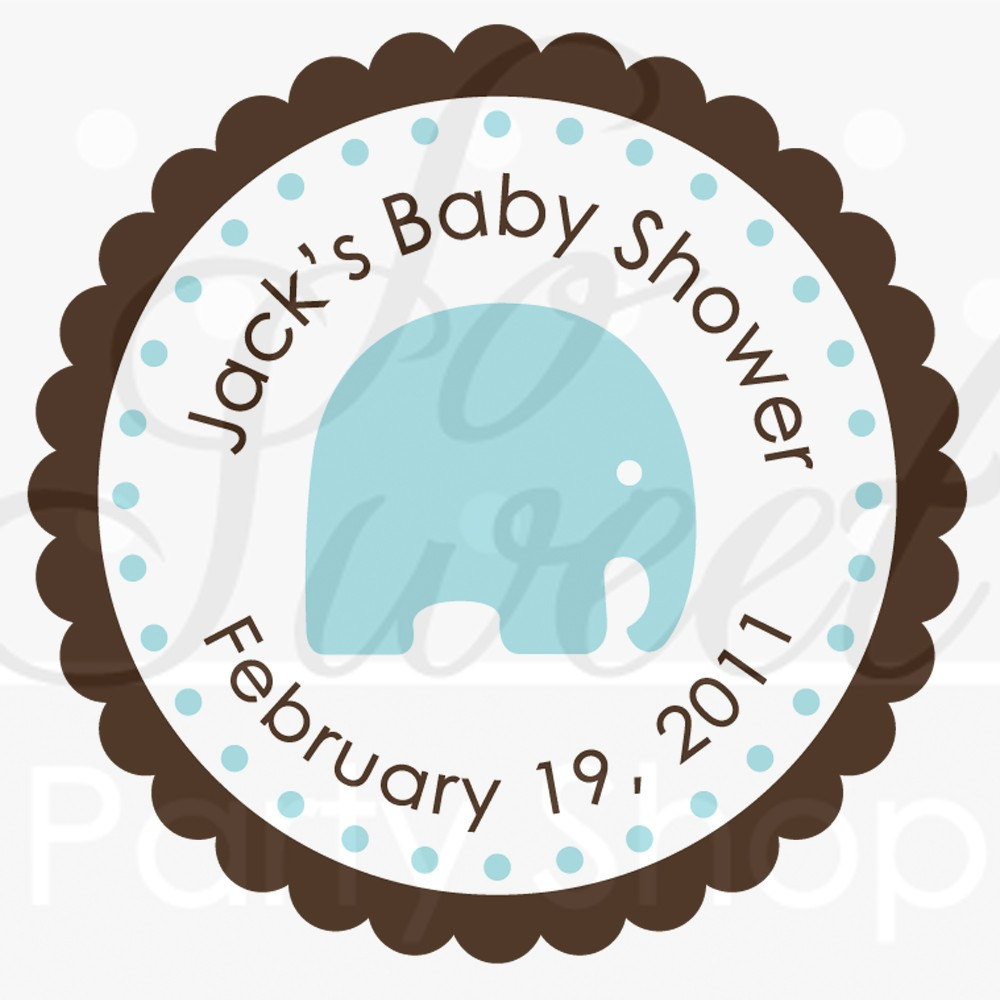 Boys Baby Shower Elephant Favor Sticker Labels Favor Stickers It S