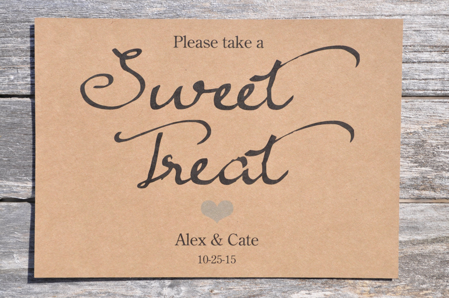Boys Baby Shower Sweet Treat Sign Rustic Wedding Sign Baby Shower