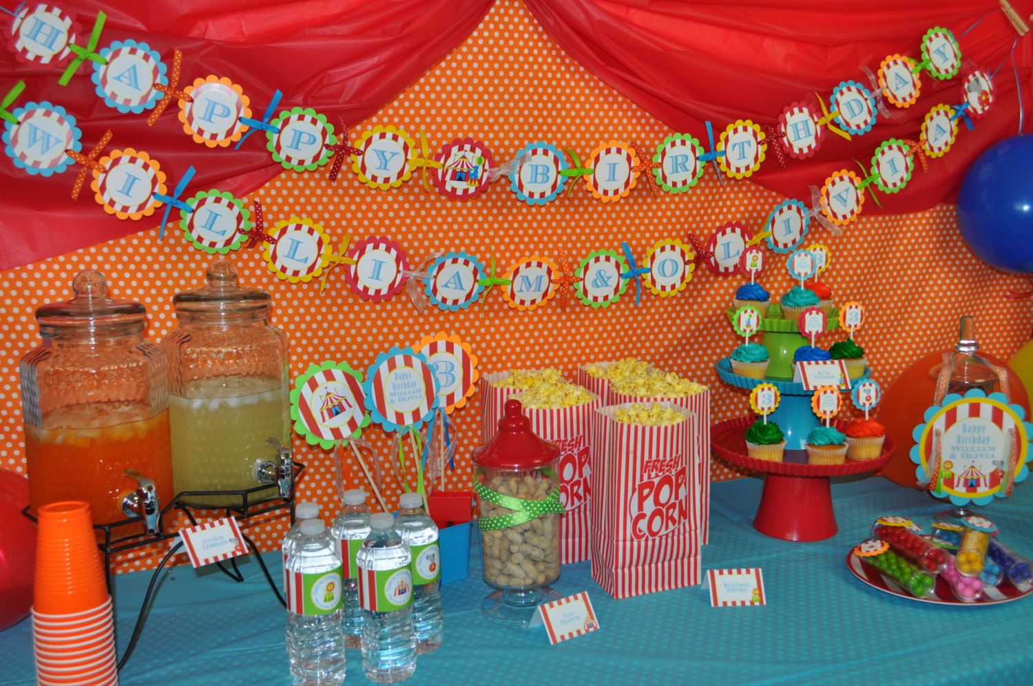 Circus Party Food Label Tent ... & Circus Party Food Label Tent Cards u2013 Buffet Labels u2013 Carnival ...