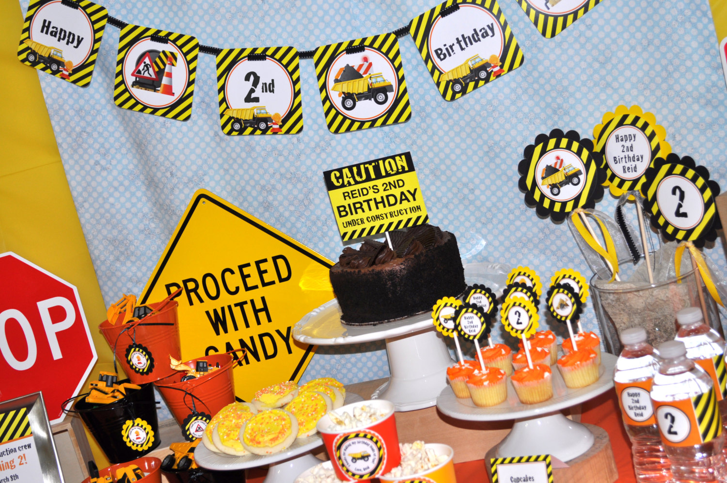 Construction Birthday Banner Decorations
