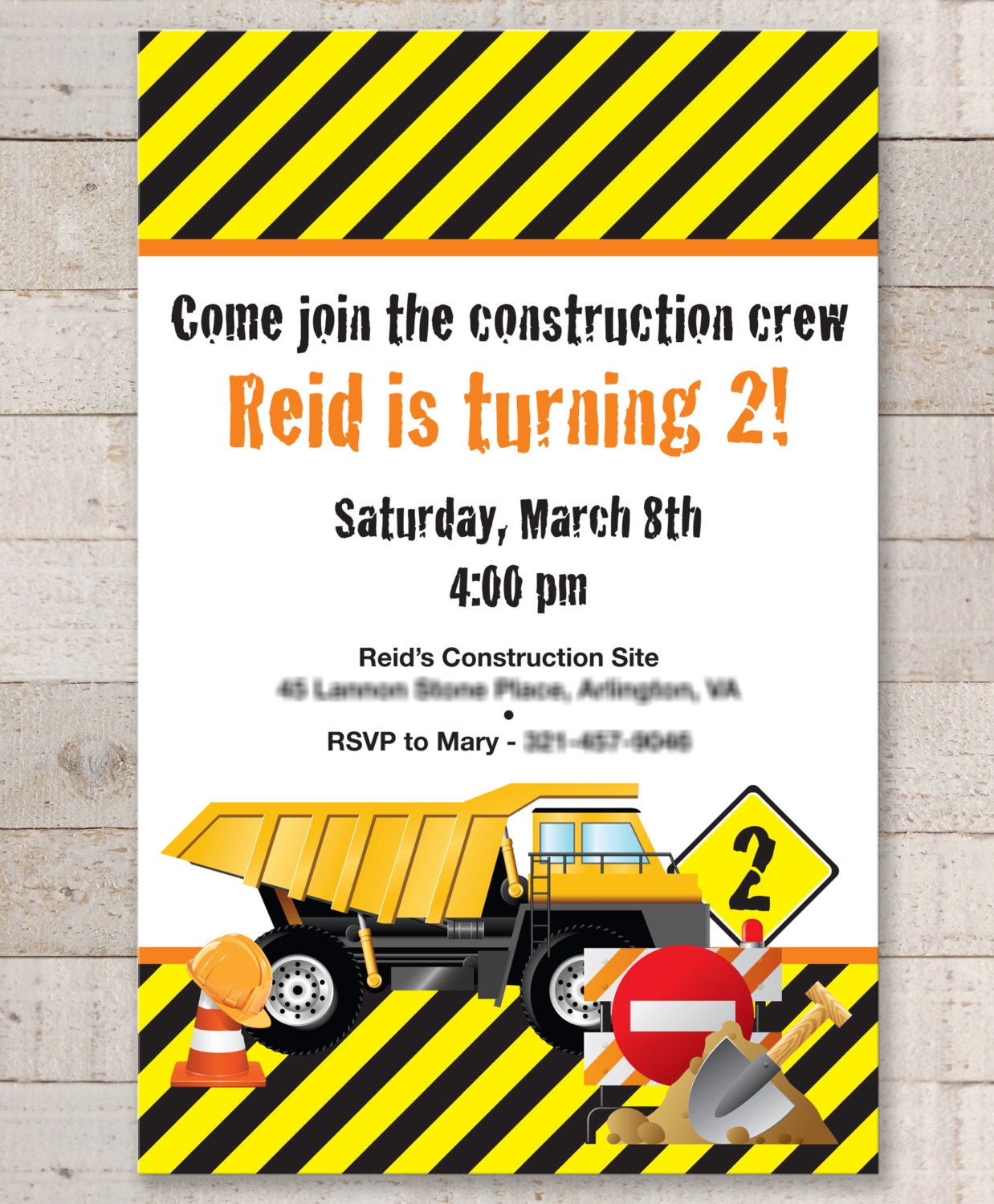 Construction Birthday Invitations – Construction Birthday ...