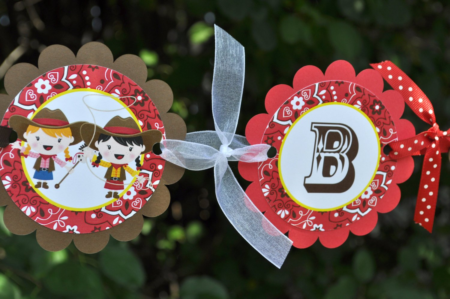 Cowgirl Birthday Banner Decorations