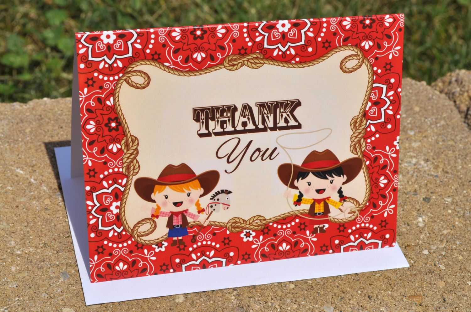 Cowgirl Birthday Party Thank You Cards – Cowgirl Birthday ...