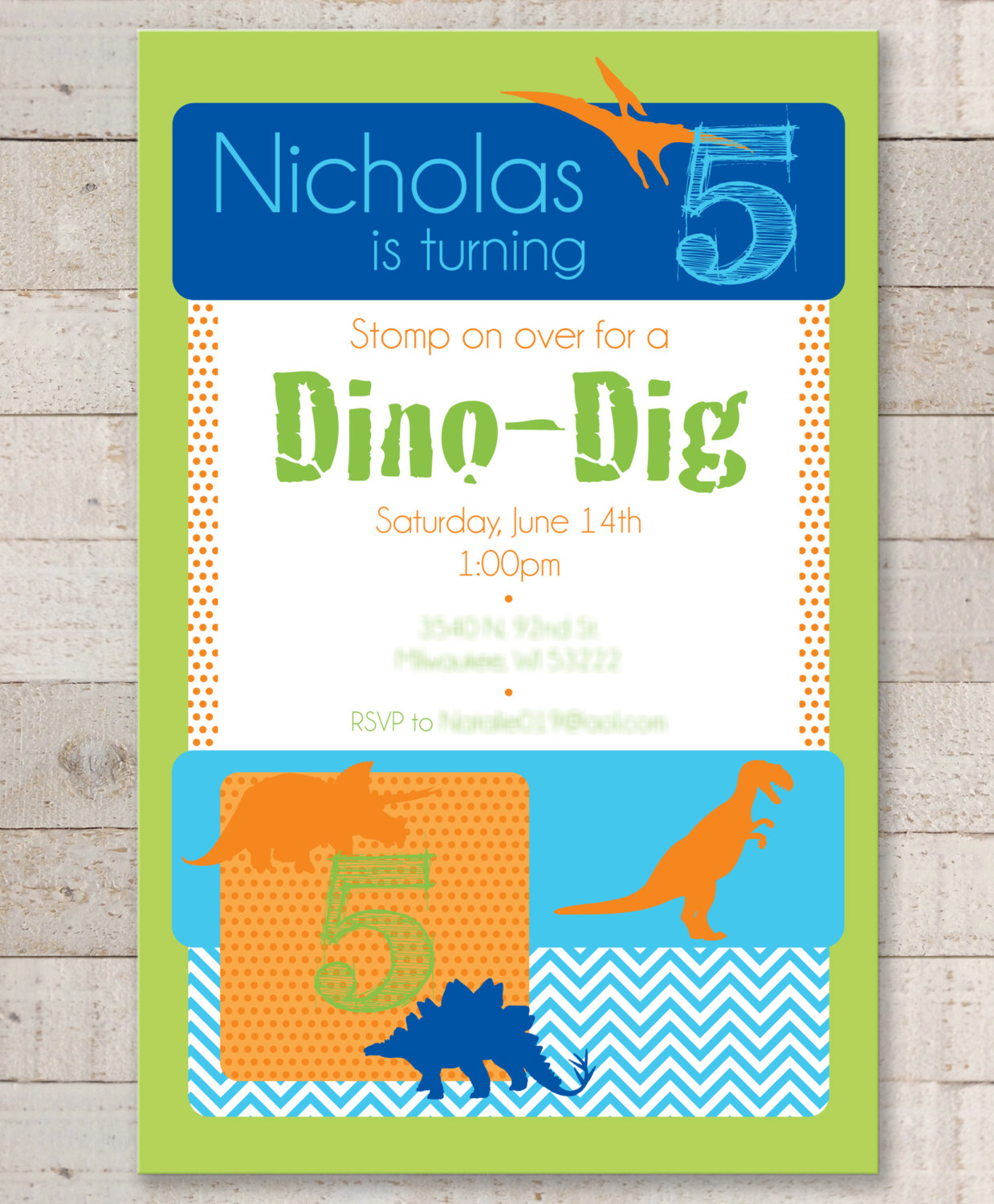 Dinosaur Birthday Invitations Party Invites Boys 1st