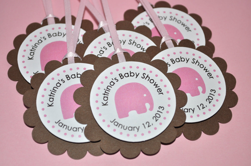 Elephant Baby Shower Cupcake Toppers Girls Elephant Baby Shower