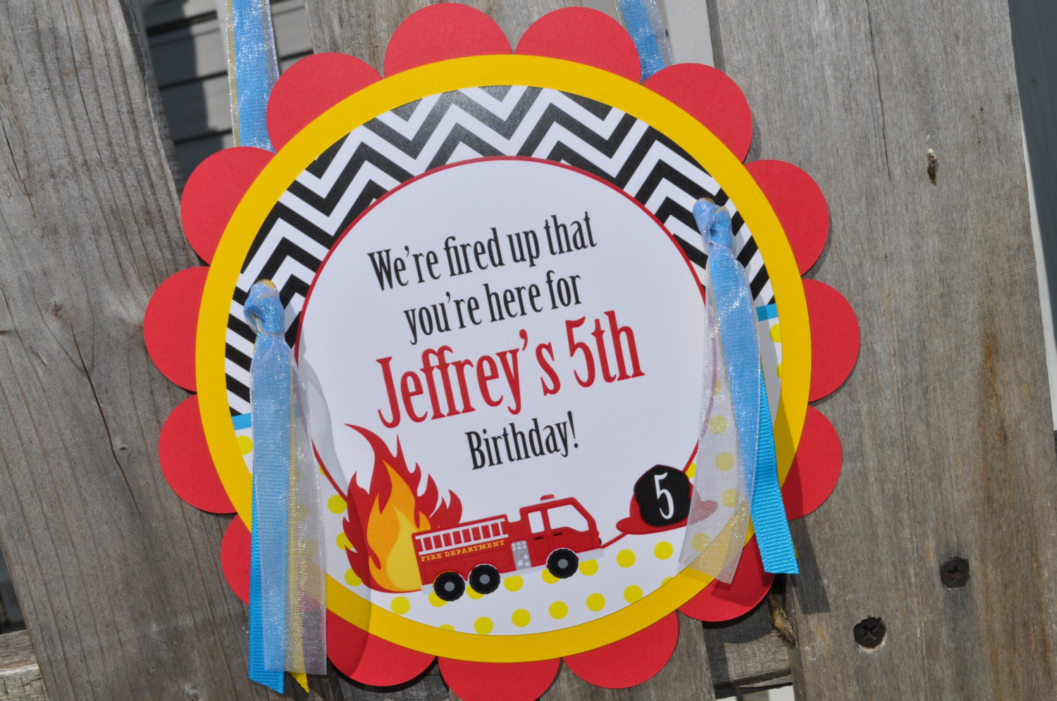 Fire Truck Water Bottle Labels 1st Birthday Firefighter Decorations