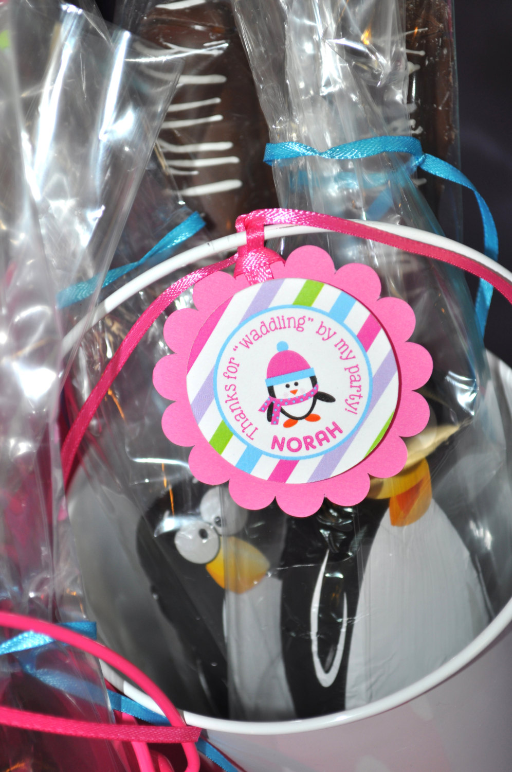 Girl Penguin Birthday Favor Tags – Winter Onederland Birthday Party ...