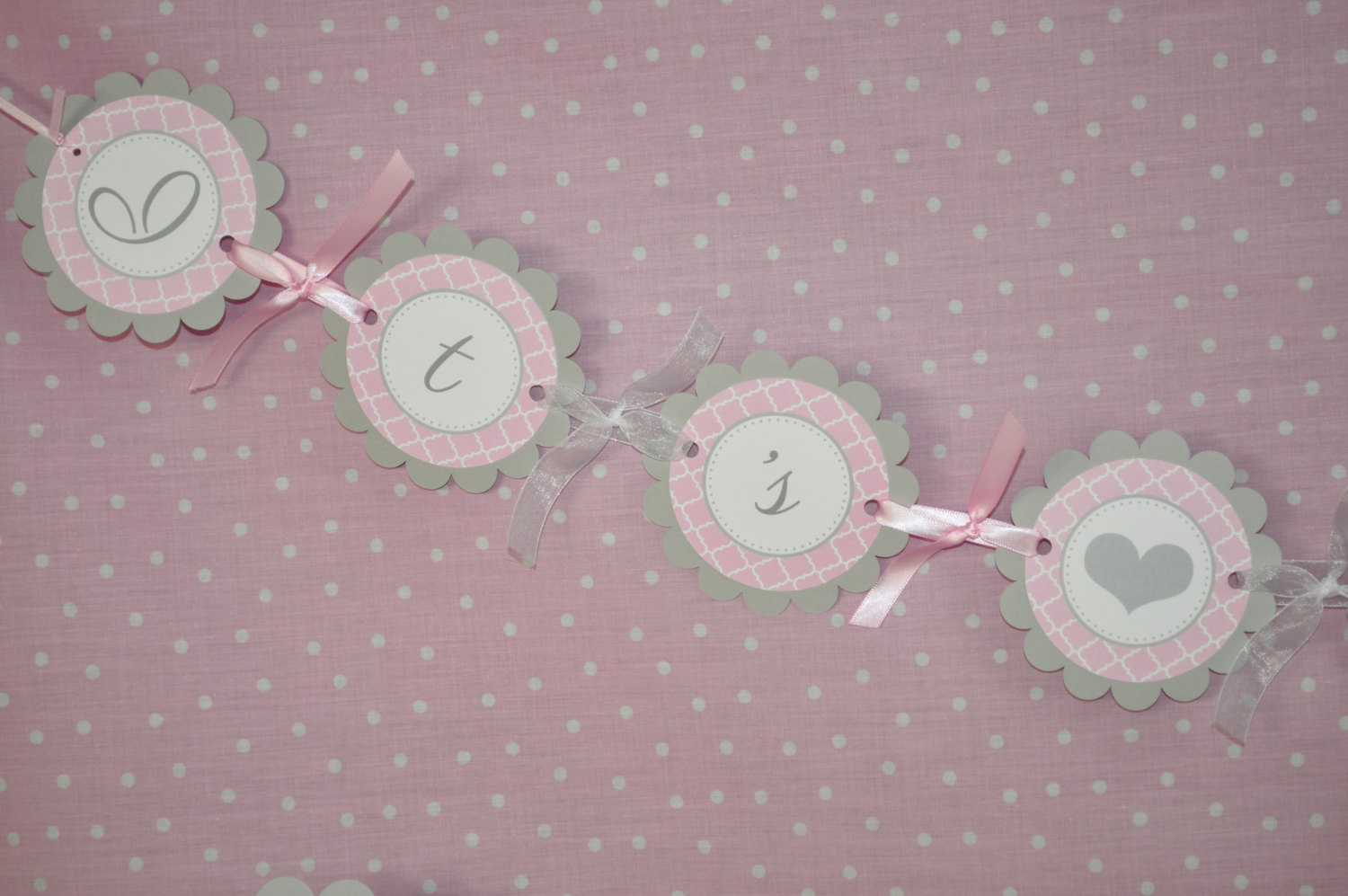 Girls Baby Shower Banner It S A Girl Banner Pink And Gray Girl