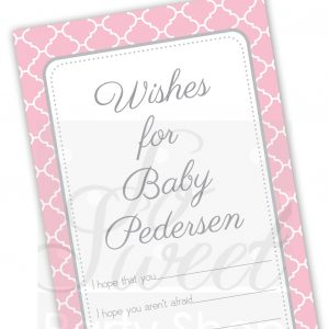 Baby Girl Wish Cards So Sweet Party Shop