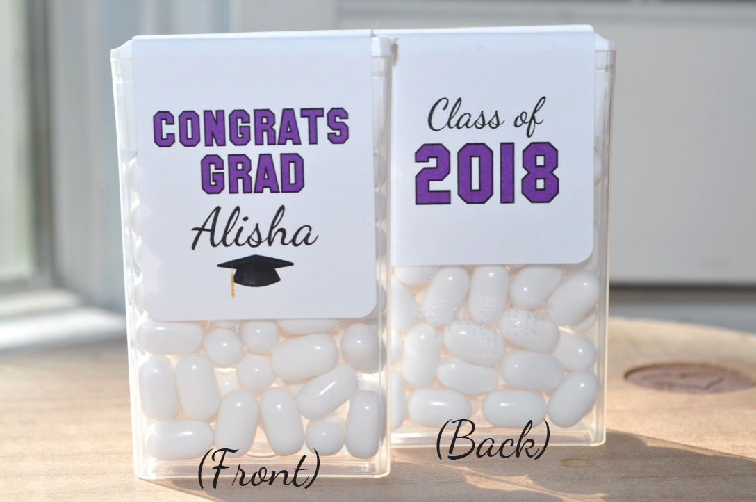 Graduation Party Favors Tic Tac Labels Mint Favors Graduation Stickers Congrats Grad Personalized Party Favors Set Of 24 Labels