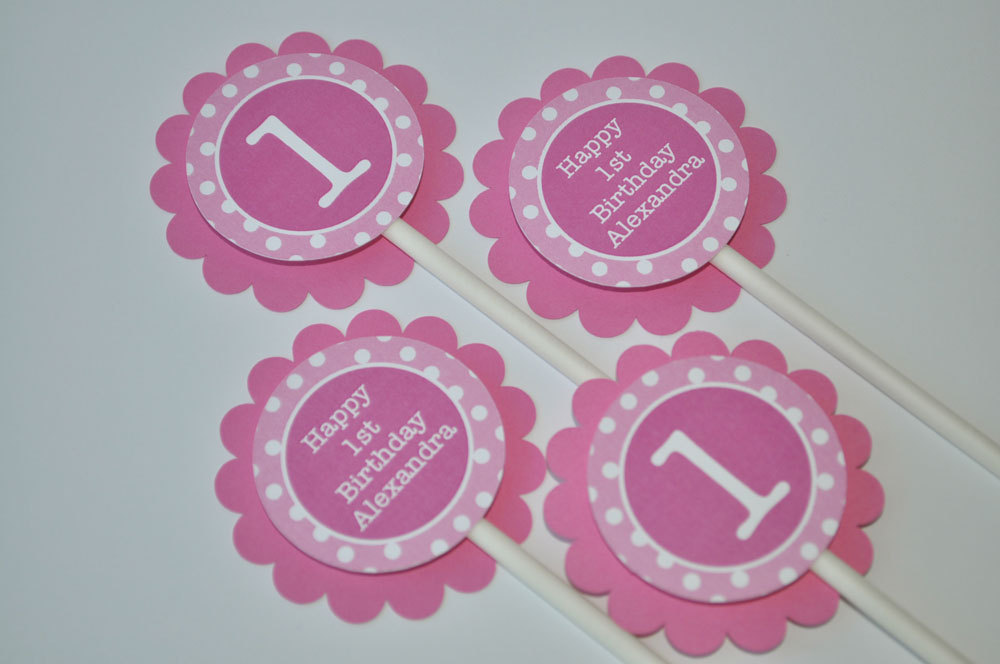 Highchair Banner Girls 1st Birthday