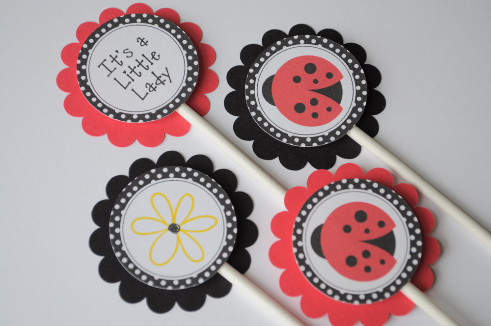 Ladybug Birthday Banner Girls 1st Personalized Party Decorations