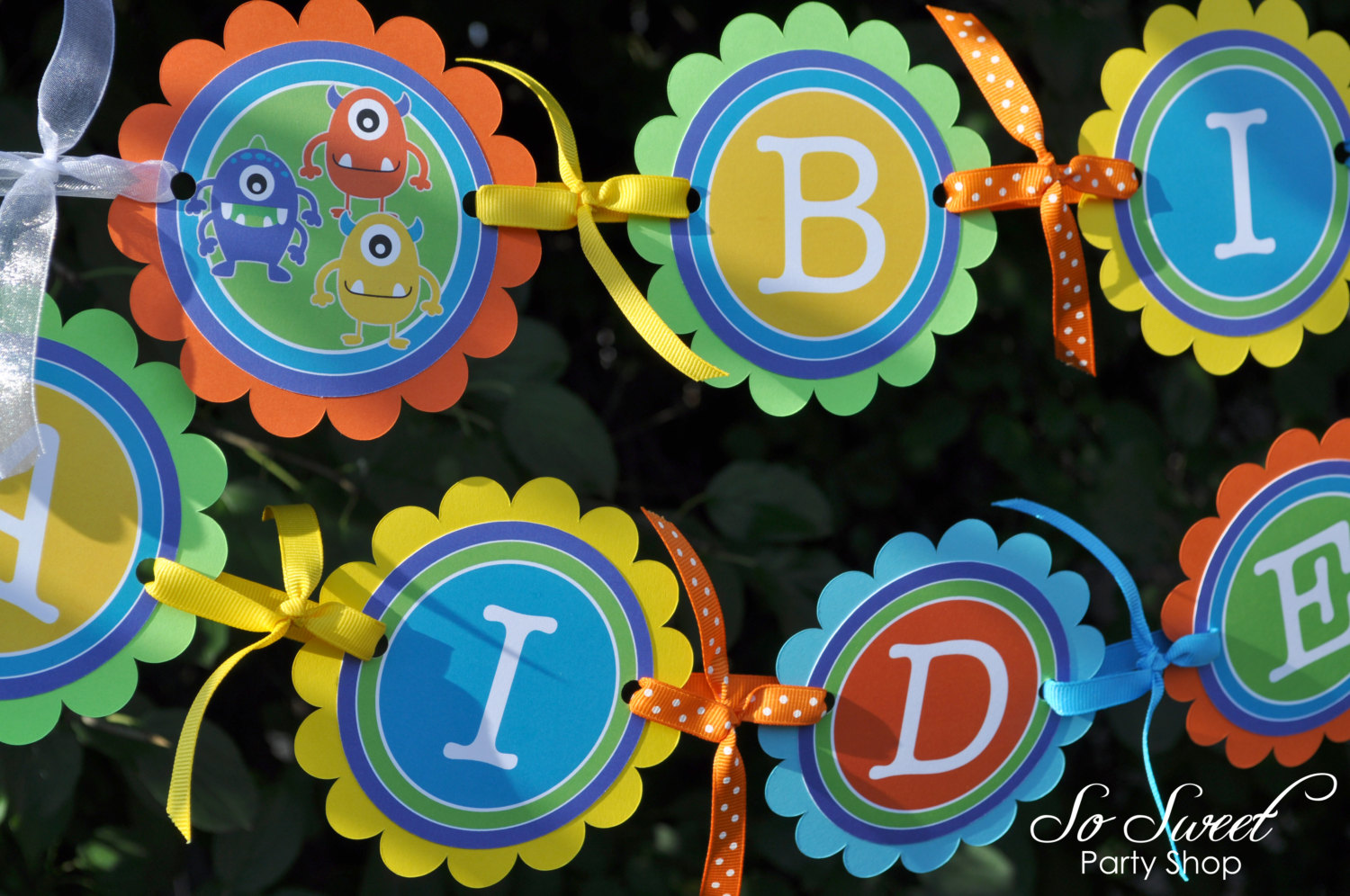 Monster Birthday Banner Monsters Aliens Personalized Boys 1st Decorations