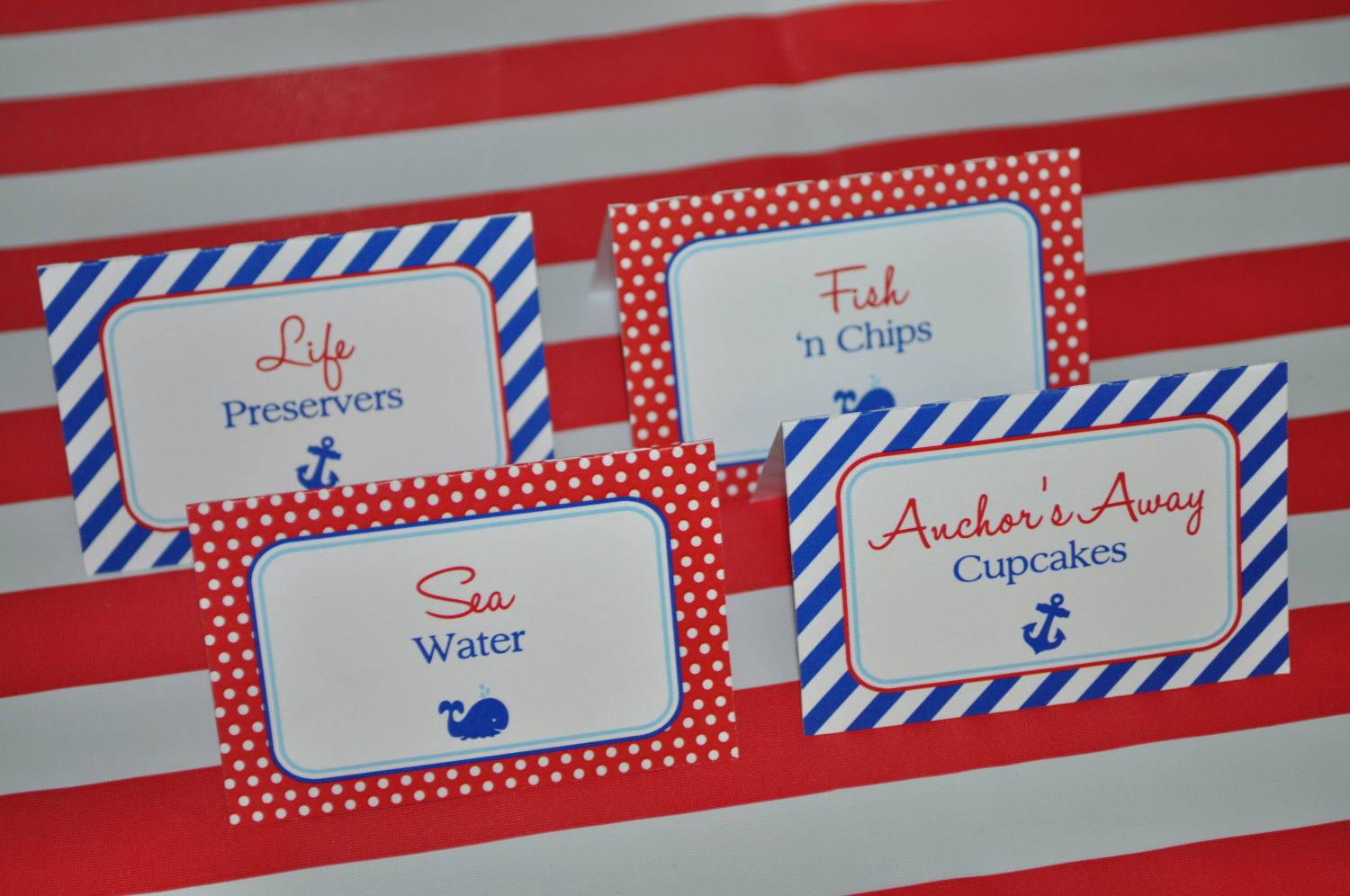 nautical food label tent cards  u2013 buffet labels  placecards