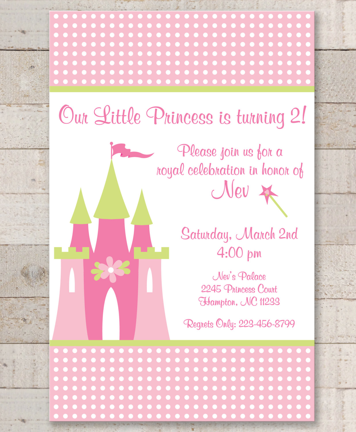 Princess Birthday Invitations Girls Party Decorations