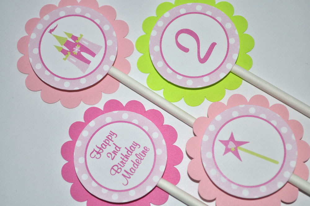 Princess Birthday Sticker Labels Party Decorations