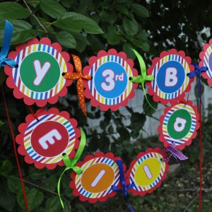 Rainbow Birthday Banner Party Decorations 1st So Sweet Shop