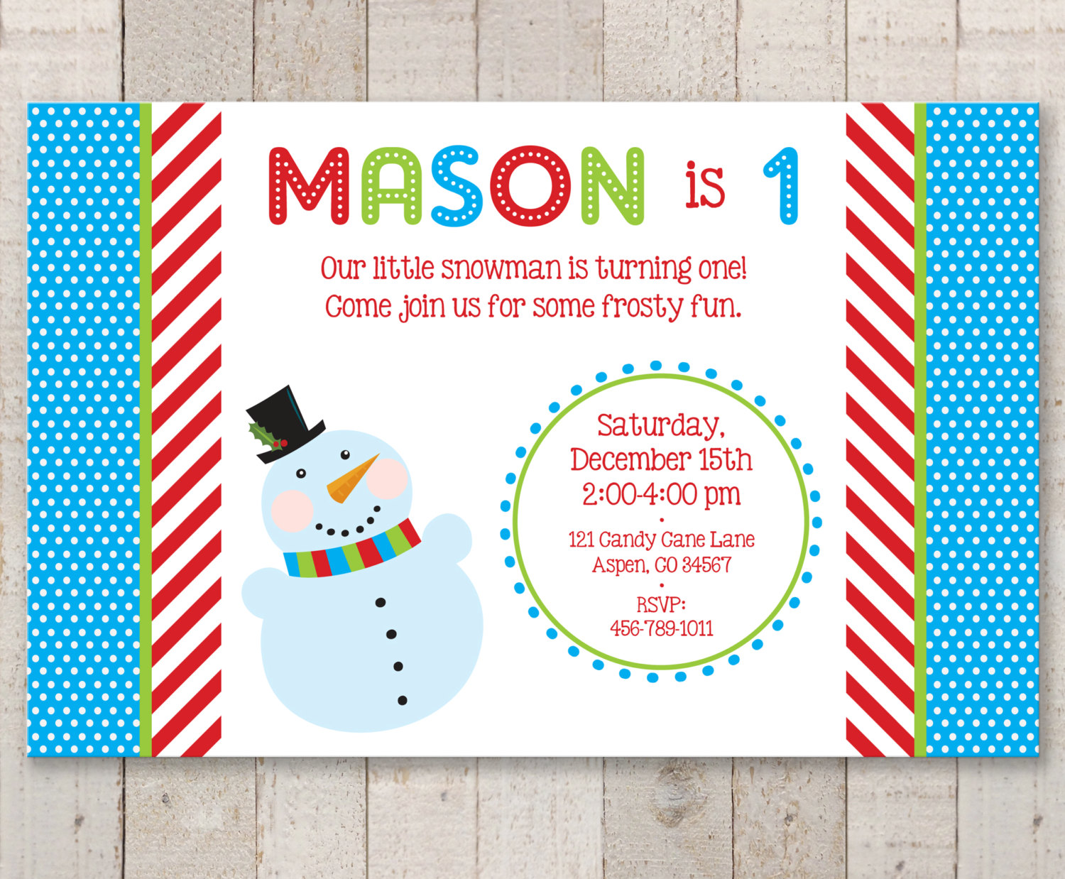 Snowman 1st Birthday Invitations – Winter Onederland Birthday Party ...