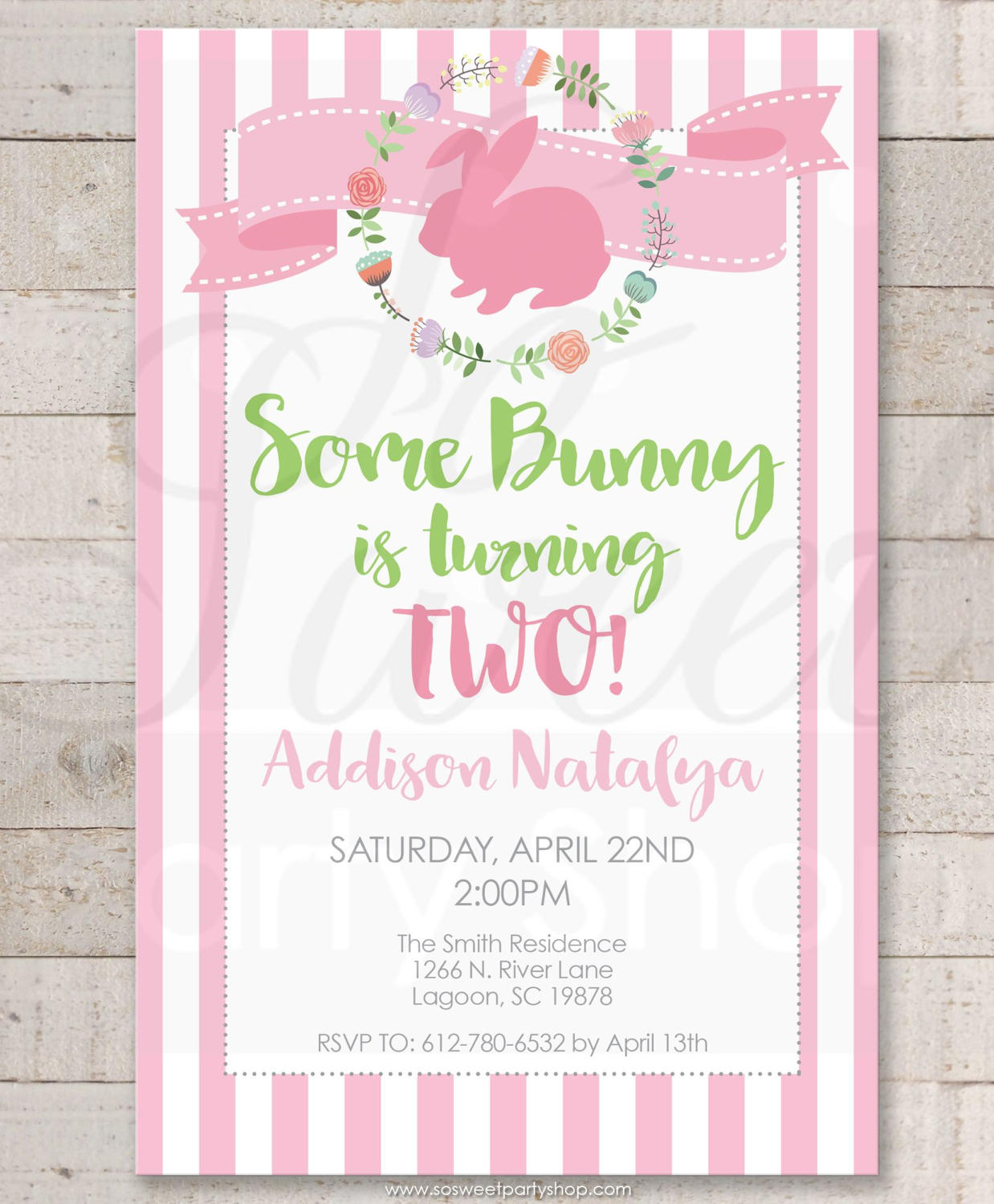Some Bunny Is One Easter Birthday Invitations 1st Party