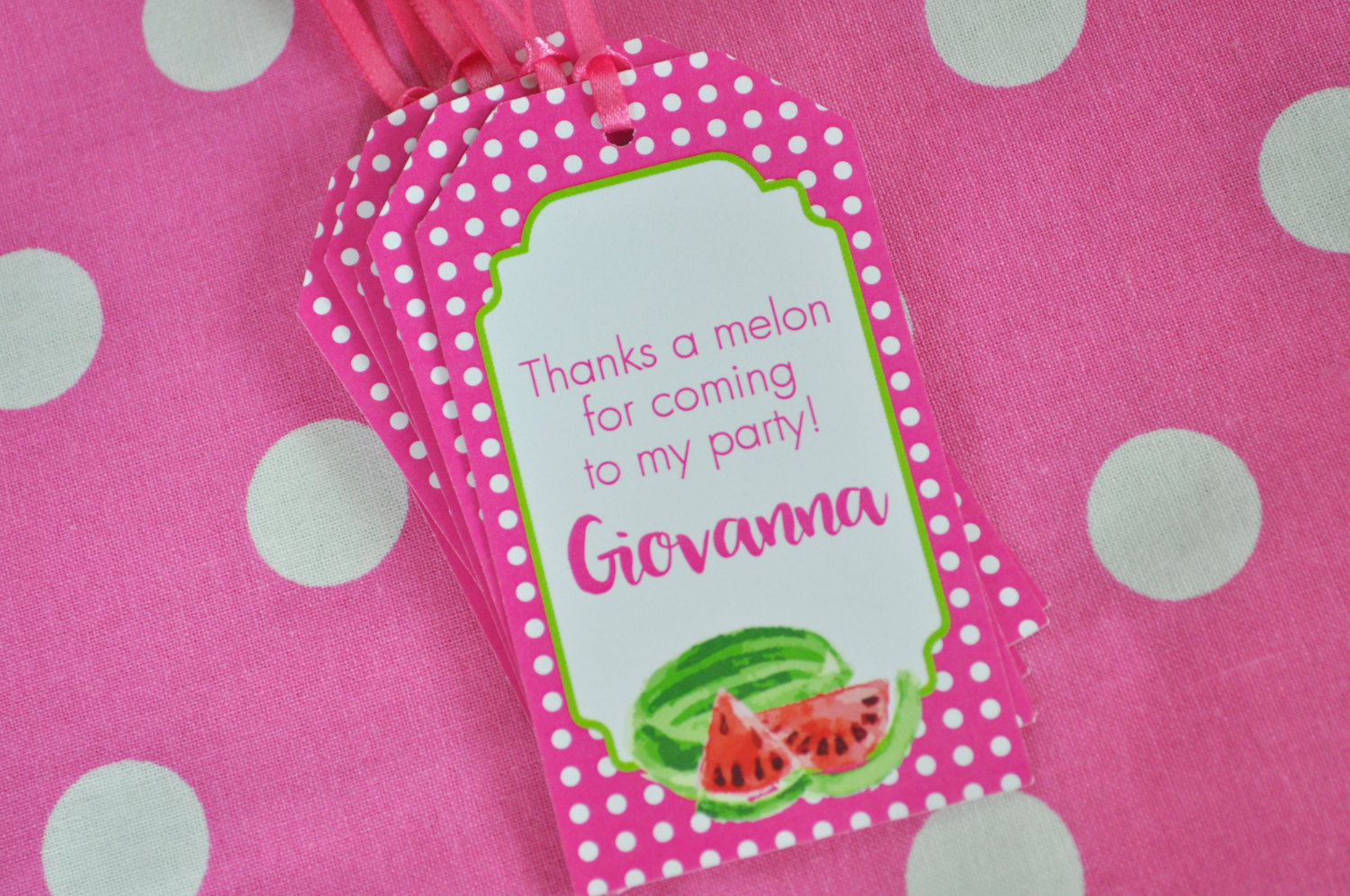 Watermelon Party Favor Tags, Thank You Tags, Party Favors, Hang Tags ...