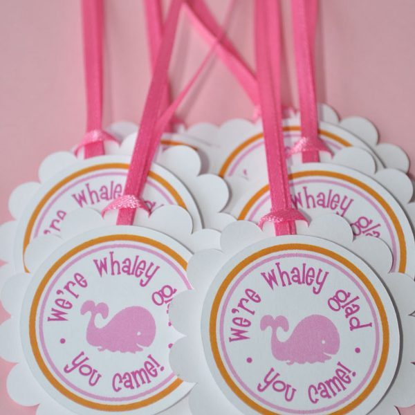 Nautical Baby Shower Thank You Gift for Guests Whale Baby Shower Decor Whale Baby Shower Favors Under the Sea Party