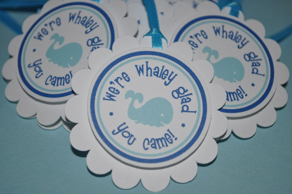 Whale Favor Tags Boys Baby Shower Boys Birthday Party Favors