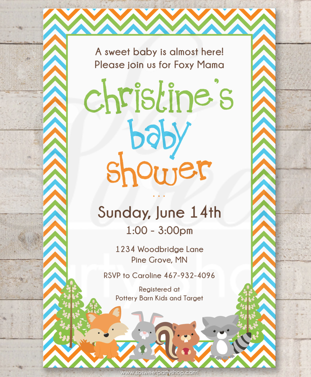 Woodland baby shower invitations woodland animals foxy mama baby woodland baby shower invitations filmwisefo
