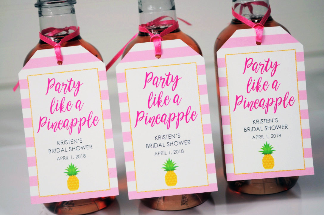 bridal shower favor tags party
