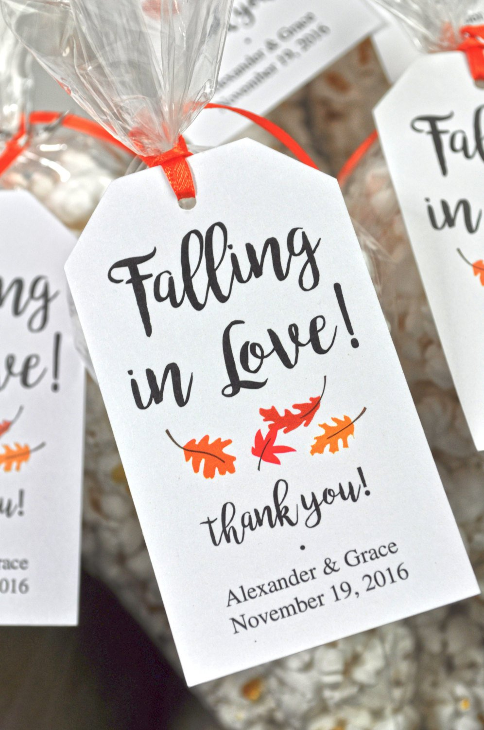 Gift Tags For Wedding Favors: Bridal Shower Favor Tags, Wedding Favors, Falling In Love