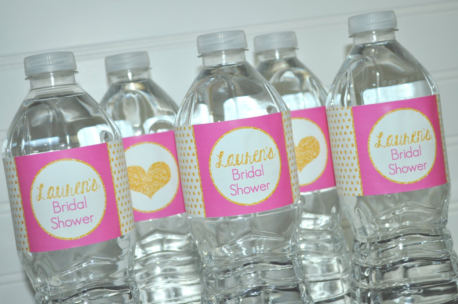 Bridal Shower Water Bottle Labels, Wedding Water Bottle Labels ...