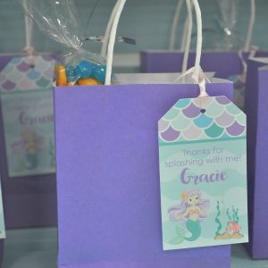 Favor Tags Mermaid Birthday 1st Party Favors Thank You Girls Decorations Under The Sea Set Of 12
