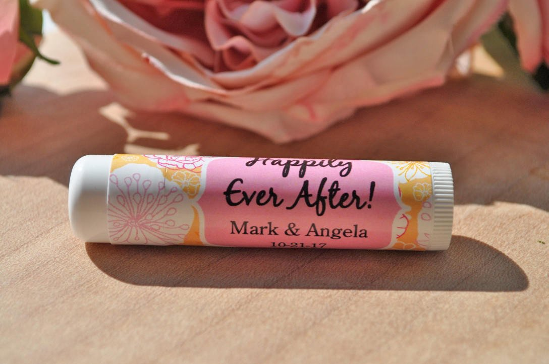 lip balm wedding favor