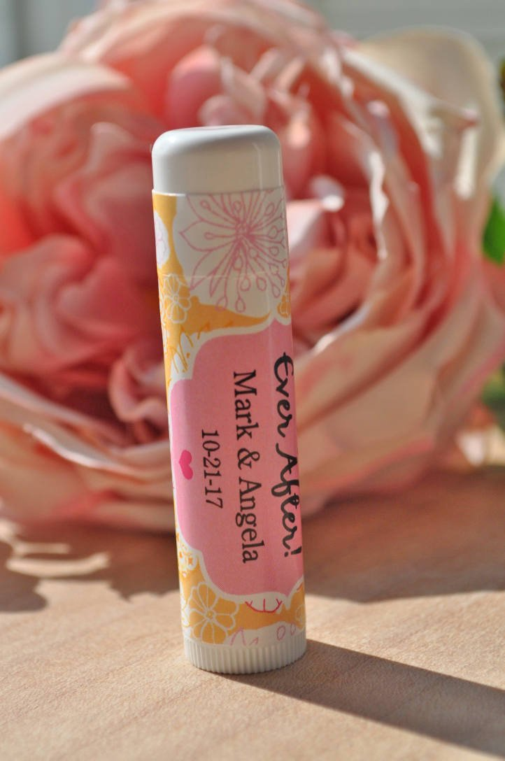 lip balm wedding favor labels wedding favors bridal shower favors bachelorette party