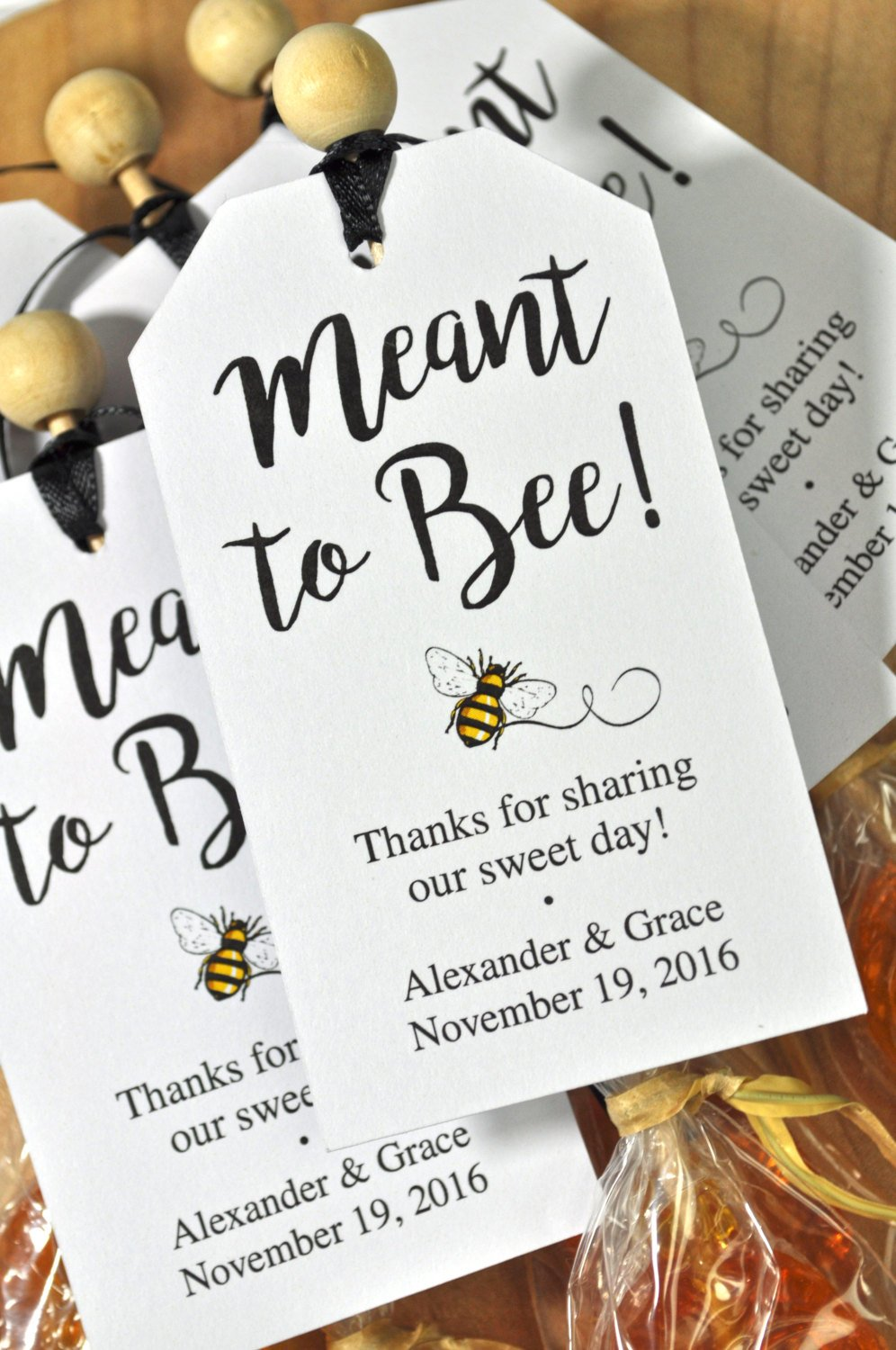Meant To Bee Bridal Shower Favor Tags, Wedding Favors, Favor Tags ...