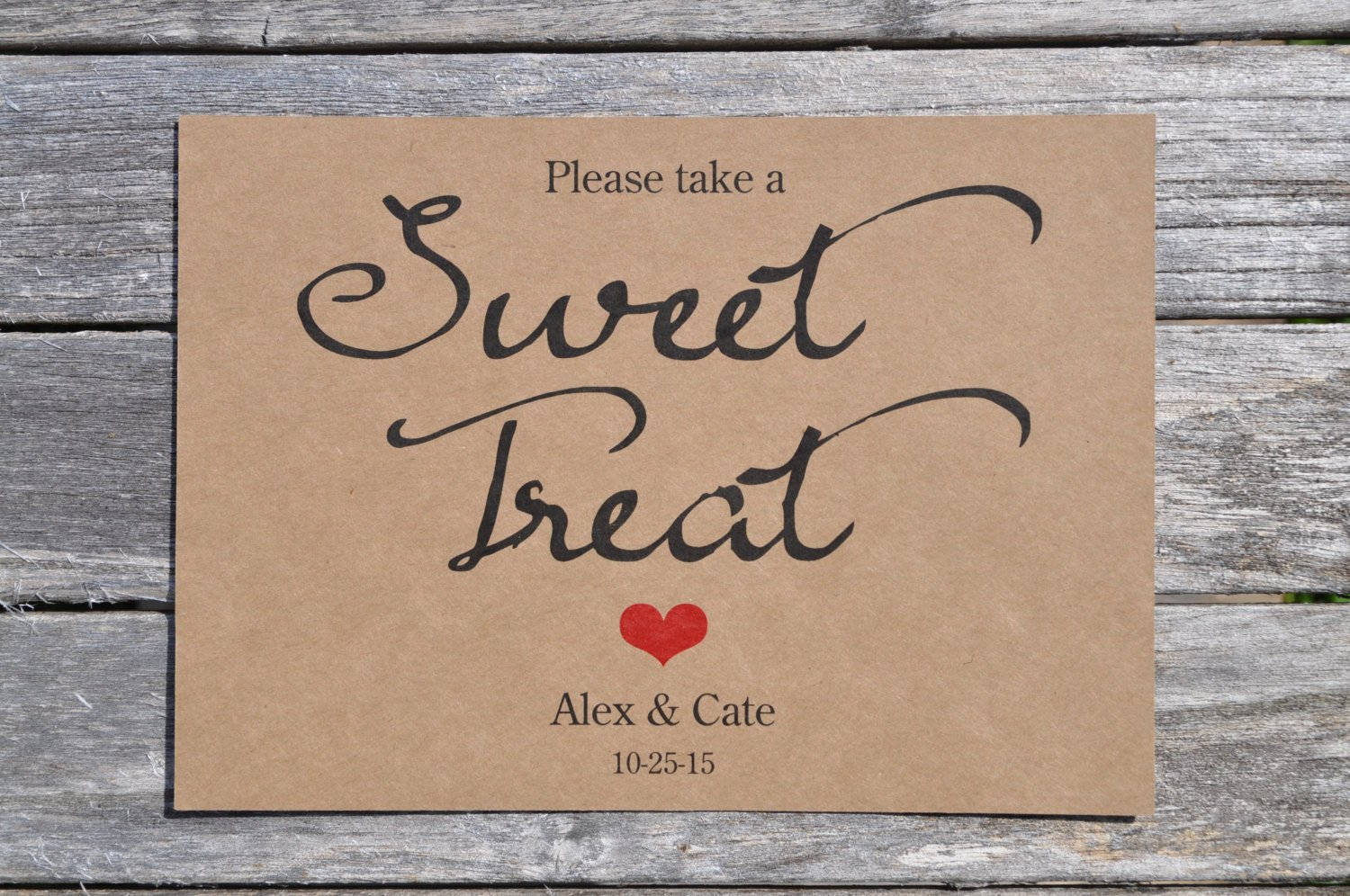 Rustic Wedding Sweet Treat Sign Baby Shower Sign Rustic Wedding